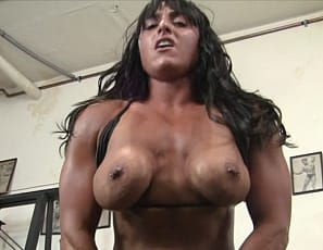 you can watch the dildo penetrate her pussy