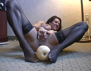 in the video Rica fucks a huge gourd