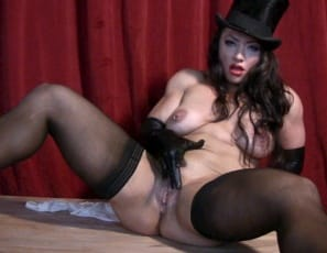 she poses and masturbates her big clit, and you watch