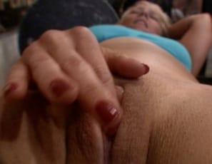 enjoying them so much that she starts masturbating