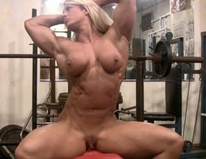 pecs, legs, glutes, biceps, and abs are. Lucky you, getting to watch