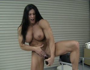 Watch it penetrate her wet pussy in close-up and enjoy looking at her