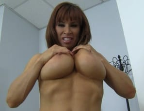 Devon Michaels nude female bodybuilder